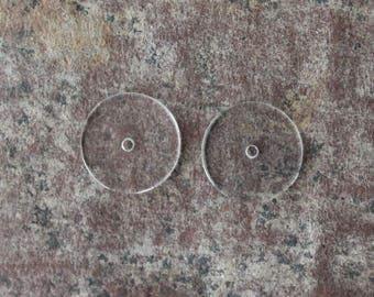 Earlobe Support - Earring Support - Clear Acrylic Comfort Discs - Heavy Earring Support - 1 PAIR - FREE SHIPPING