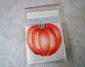 Cross Stitch Pumpkin Fabric Design Instructions Craft Set