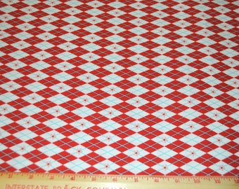 """Riley Blake Red Blue Cotton Fabric 42"""" Wide 1 Yard listing Sugar and Spice"""