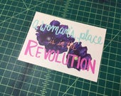 A Woman's Place is in the Revolution Postcard