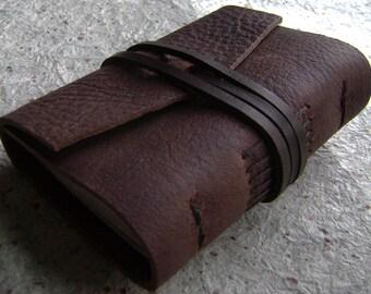 "Pocket Journal 2.5""x 3.5"", pocket diary, tiny travel diary, handmade leather journal (2314)"