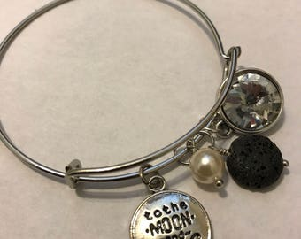 "Pretty Diffuser Charm Bracelets:  Chloe Collection - ""Over the Moon"""