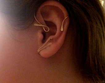 Beautiful inspiration Vine Jewelry Ear Cuff,  Vine Jewelry, ear jewelry, ear climber, ear wrap, ear jacket, non pierced