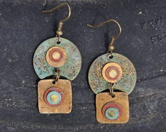 Recycled Spirit Moon Earrings...