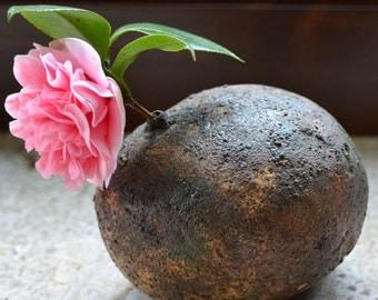 Beach Stone Ceramic Vase. Nature Inspired Zen Stone Vase. Organic Zen Ceramics. Garden Home Decor. Hand Built Ceramics. Ceramic Art.