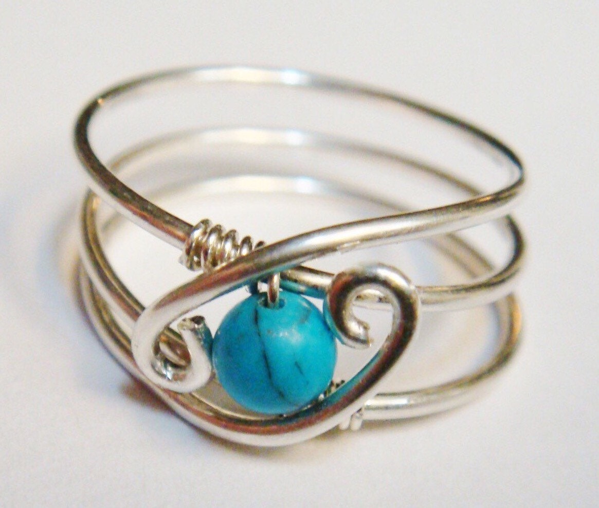 turquoise ring turquoise jewelry december birthstone