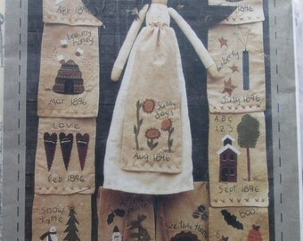 Callie/Craft Sewing Pattern by Heart to Hand/1995/24 in. Stuffed Angel with 12 Aprons