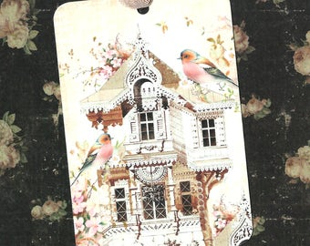 Tags, Bird Tags, Bird House, Gift Tags, Birds & Flower Tags, Party Favors