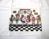 Special Listing for Kristin for 8 Basset Hound Flour Sack/Tea Towel - Variety Shown