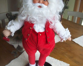 1988 Danbury Mint Santa Claus 18 Inch Collectible With Stand