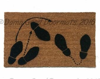 1950's dancing feet doormat