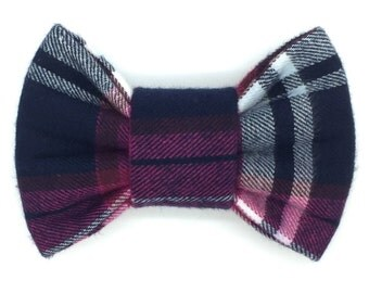 Schoolgirl Crush Snap-In Dog Bows® Bow Tie - Dog Bow Tie, Cat Bow Tie, Can Also Be Made As A Dog Hair Bow