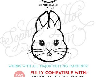 Baby Easter Bunny SVG DXF PNG digital download files for Silhouette Cricut vector clip art graphics Vinyl Cutting Machine Screen Printing