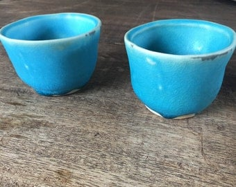 Espresso cup, Ceramic sake cup,  shot glass,  tea cup, sauce cup, handmade turquoise