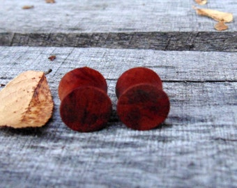 "12.5mm Redwood ear plugs,  Organic Beautiful hand crafted redwood plugs in 1/2"" gauge"