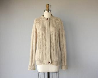 Vintage 1970s Cardigan | 70s Cardigan | 70s Wool Cardigan | 1970s Wool Sweater | Zip Up Cardigan