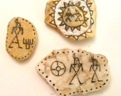 Beach Stones with Pamunkey Inspired Designs Pottery