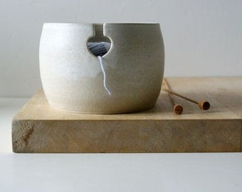 Made to Order - The love heart yarn bowl, hand thrown custom pottery yarn bowl