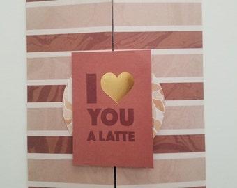 "Coffee shutter card 5""x7"""