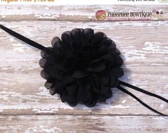 30% OFF SPRING SALE Black Flower Headband, Emma Petal, Newborn Headband, Baby Headband, Infant Headband, Photo Prop, Flower Girls, Weddings,