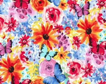 Michael Miller - Garden Party Collection - Big Bang Blooms in Multi