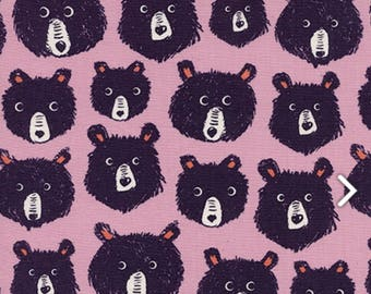 Cotton + Steel - Cozy Collection - Teddy and the Bears in Lilac