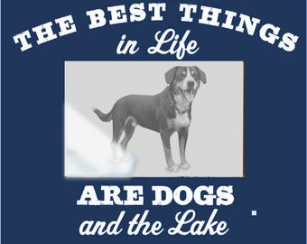 Best Things in Life are Dogs...and the Lake 4 x 6 Photo Frame