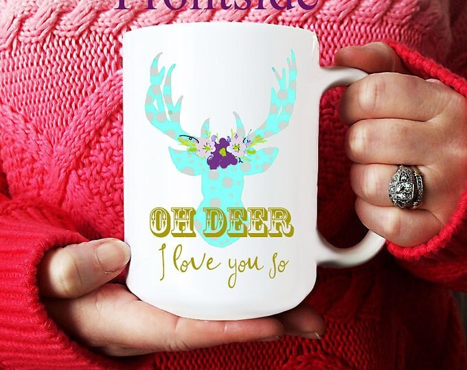 Coffee Mug, Proposal Mug, Will you marry me coffee mug, deer antler mug, woods and nature lover mug