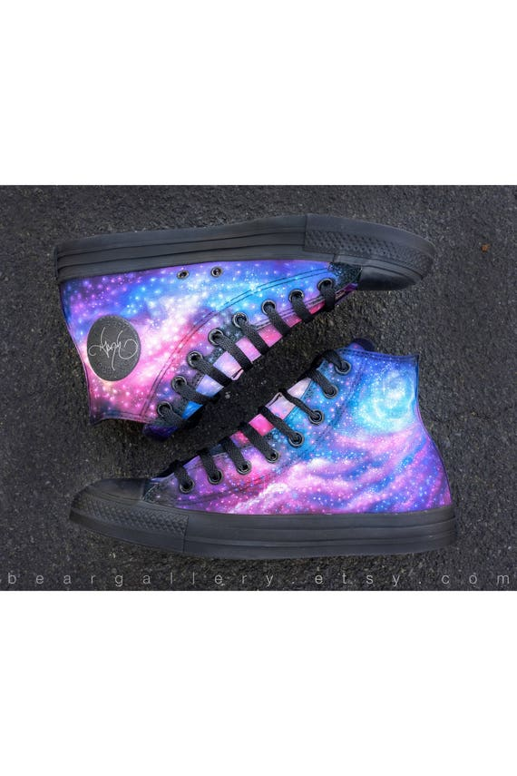 Custom Galaxy Shoes - Hand Painted Converse High Tops