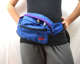 Vintage 90s REI Purple Blue Fanny Pack
