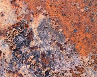 Rocks on Rust, Industrial Decor, Modern Art, Abstract,  Fine Art Photography, 11X14 Mat, Wall Decor, Ready to Frame, Wall Hanging