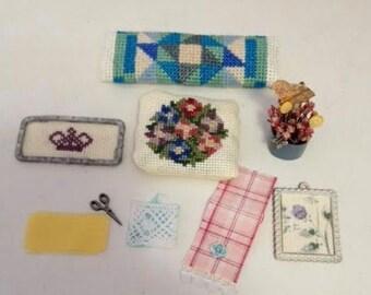 Spring set dollhouse miniatures