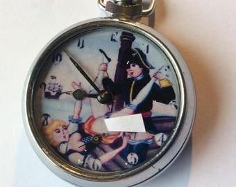 Vintage Erotic auto aton pocket watch. LORD NELSON