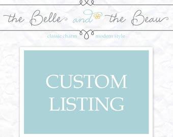 Custom Order For Heidi