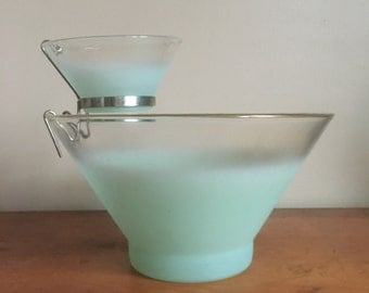 Vintage Mid Century Chips and Dip Serving Bowl Set