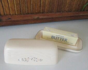pfaltzgraff remembrance butter dishu2013 2 piece quarter pound covered butter dishu2013 pink u0026 peach - Pfaltzgraff Patterns