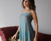 sheer babydoll nightgown with lace trim - womens lingerie range - ROMANTIC - made to order