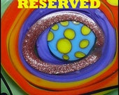 RESERVED for *J.S* - 5 handcrafted lampwork focal beads + 6 spacer beads -Modern Glass Art by Michou P. Anderson (Brand/ Label Sonic & Yoko)