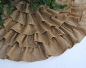 Natural Burlap Tree Skirt
