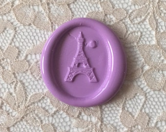 Eiffel Tower Peel  and Stick Flexible Wax Seals in Lavander