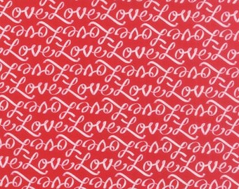 Moda Ever After Fabric by Deb Strain Red Love - 1/2 Yard