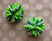 NEW Girls St. Patrick's Day Corker Hair Bows- Baby Girl Bows- Toddler Bows- Pigtail Bows- Shamrocks- Clovers- St. Paddys Day