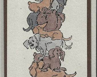 Doggies Galore-Choice of Tag, Thank you Card or Single Card