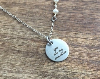 You are My Sunshine Mother Daughter Necklace Mother Daughter Jewelry Mom Jewelry Mother Gift Mothers Day Matches My Only Sunshine