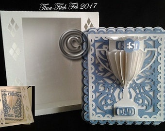 Best Dad trophy Card & Box TF0051, All formats Available