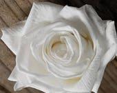 Silk Wedding Bridal Bouquet White Roses, Hydrangeas