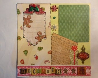 Christmas - December 25 8 x 8 scrapbook page