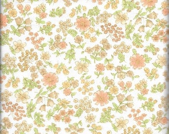 2-1/2 Yards Heavy Weight Floral Print Cotton Fabric