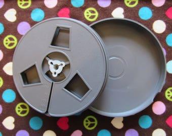 Set of 5 Vintage Super 8 Film Reels with Cases-200ft Reels