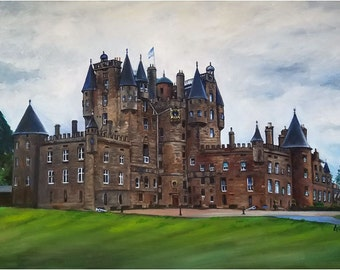 Glamis Castle Painting - 18x12in Giclee Print